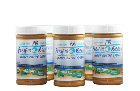 Case of 6-Organic Unsalted Valencia Peanut Butter 12oz