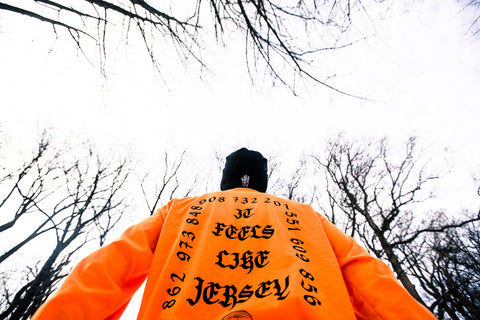 "4B - ""It feels like Jersey"" Long Sleeve T-Shirt - Orange"