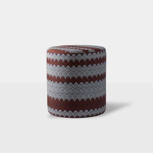 Brown tribal design ottoman