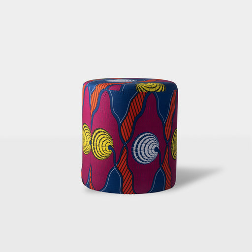 Multi color pattern ottoman pouf