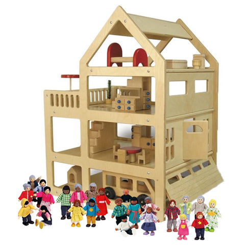 Extra Large Family Dollhouse Set