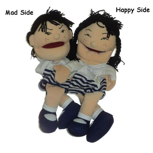 Double Face Asian Girl Puppet