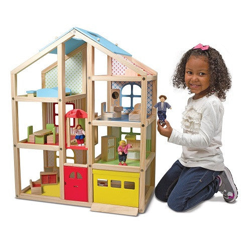 Hi-Rise Dollhouse, Dolls & Furniture Set