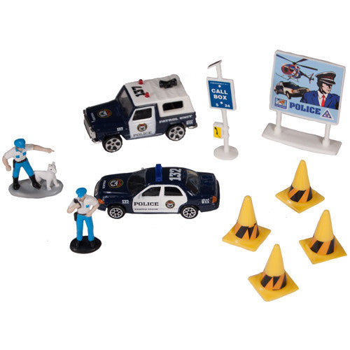 10 Piece Police Department Set