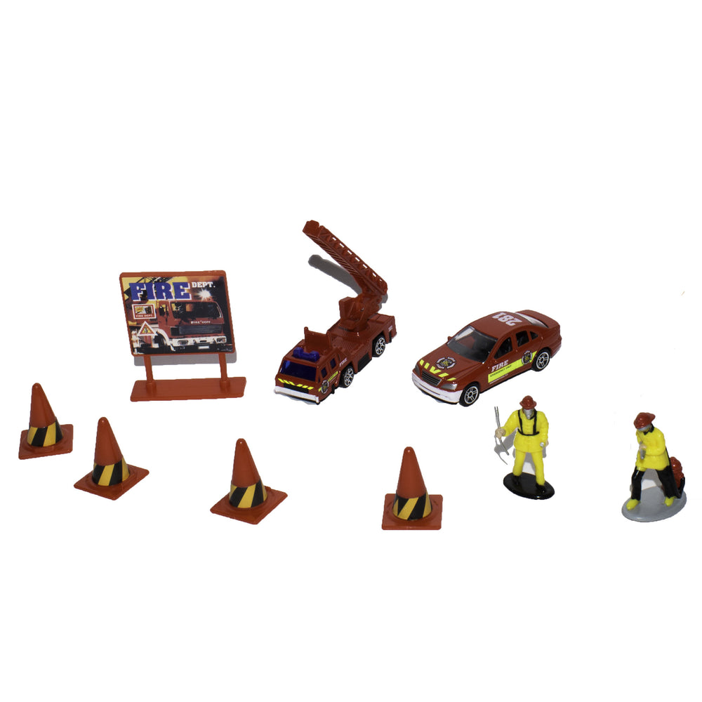 10 Piece Fire Department Set