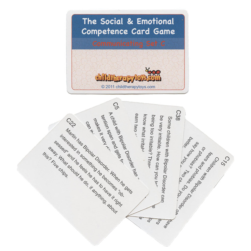 Bipolar Cards for The Social and Emotional Competence Board Game