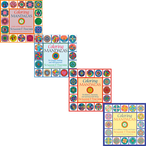 Coloring Mandalas - Four Book Set
