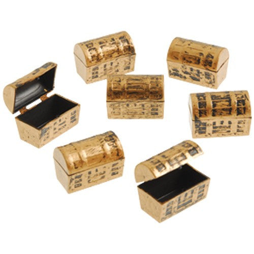 Mini Golden Pirate Treasure Chest (Set of 6)