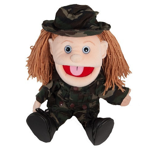 Girl Soldier Puppet