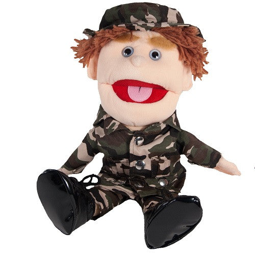 Boy Soldier with Brown Hair Puppet
