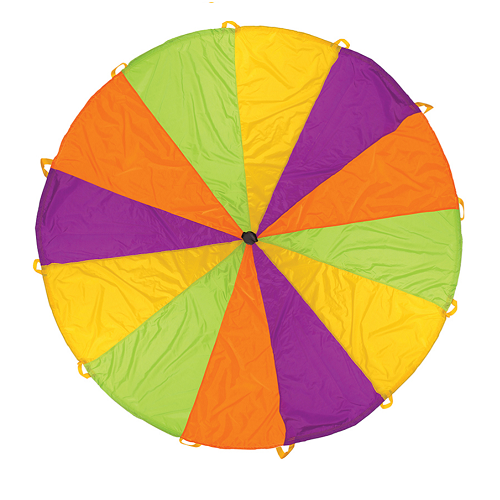 Playchute Parachute - 10 ft - Rainbow