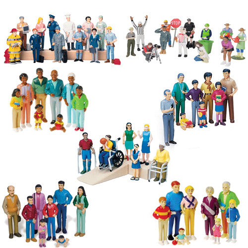 Deluxe 62 Piece Human Figure Set for Sand Trays and Dollhouses