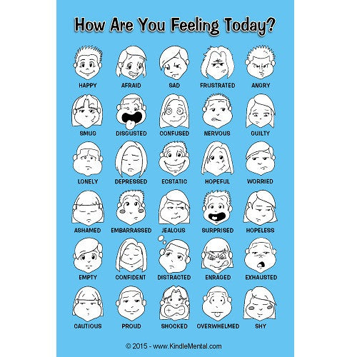 Mini Feelings Poster, with Graphics - Set of 12