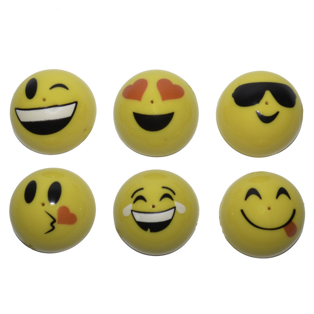 Six 1.75 inch Emoticons