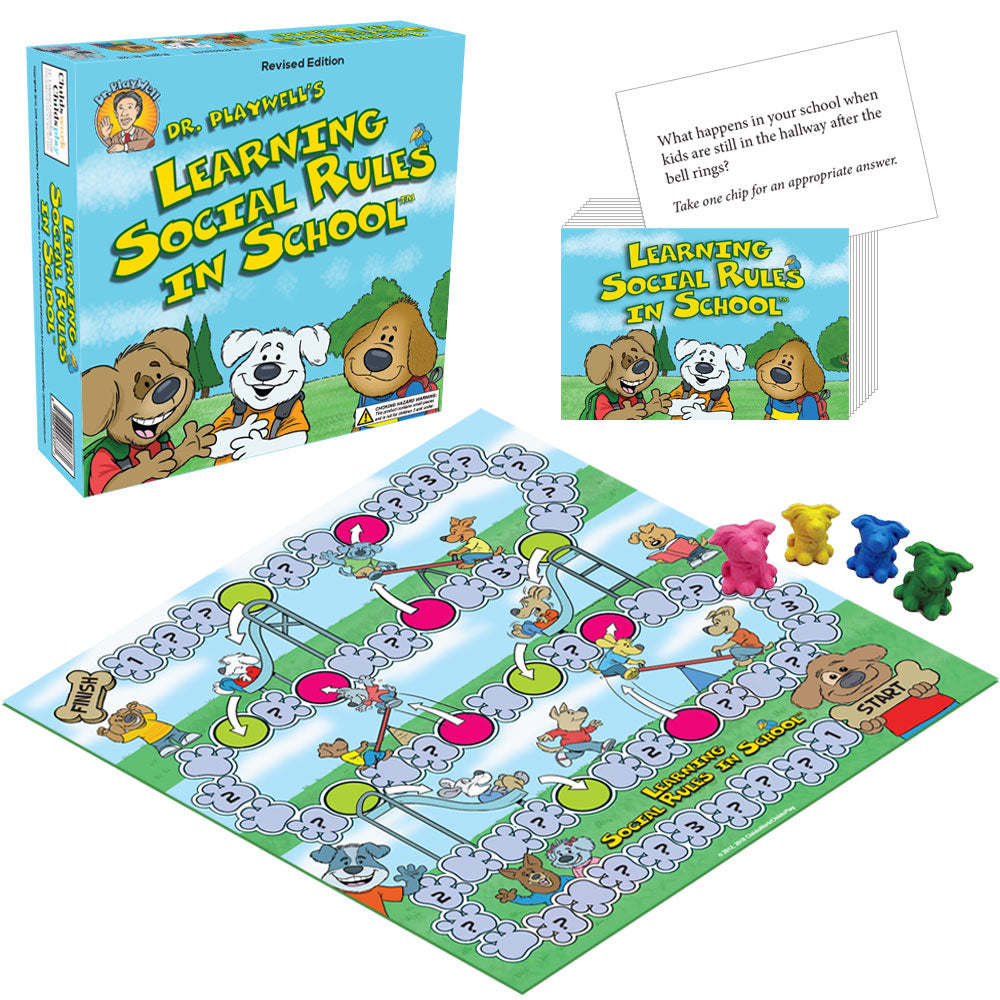 Dr. Playwell's Learning Social Rules in School Board Game, Revised