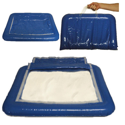 Inflatable Sand Tray & 10 lbs Classic White Therapy Sand