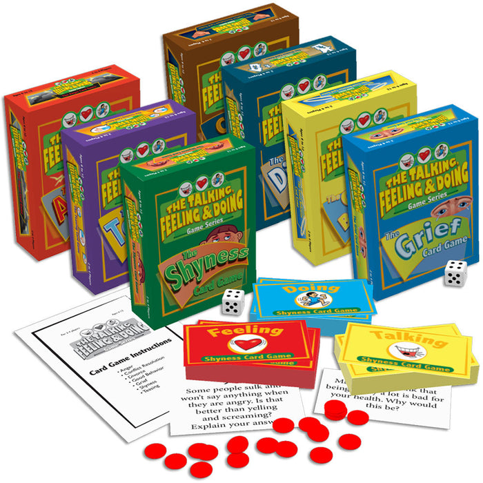 The Talking, Feeling & Doing Therapy Card Games Set