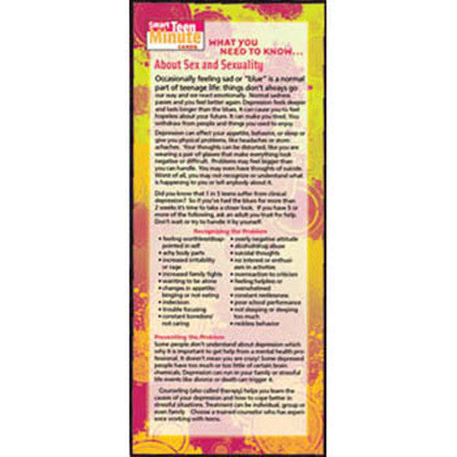What You Need to Know... About Sex and Sexuality Smart Teen Minute Card 50-pack