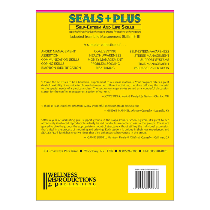 S.E.A.L.S. + PLUS (Self-Esteem and Life Skills) Book
