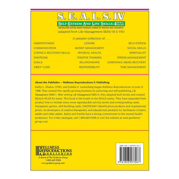 S.E.A.L.S. IV (Self-Esteem and Life Skills) Book