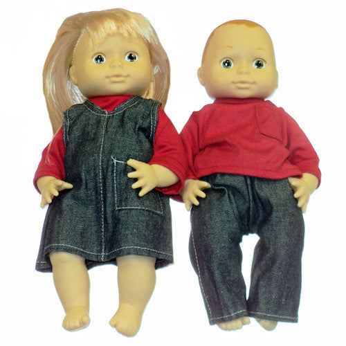 Pair of 13 Inch Dolls - Caucasian
