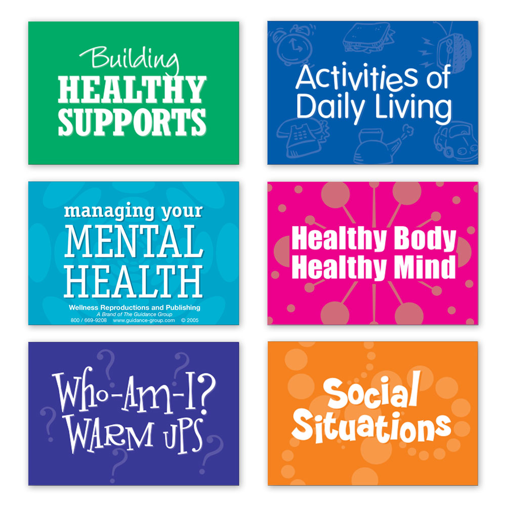 LifeSkills Card Decks for Adults (Set of 6)