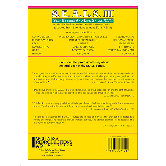 S.E.A.L.S. III (Self-Esteem and Life Skills) Book