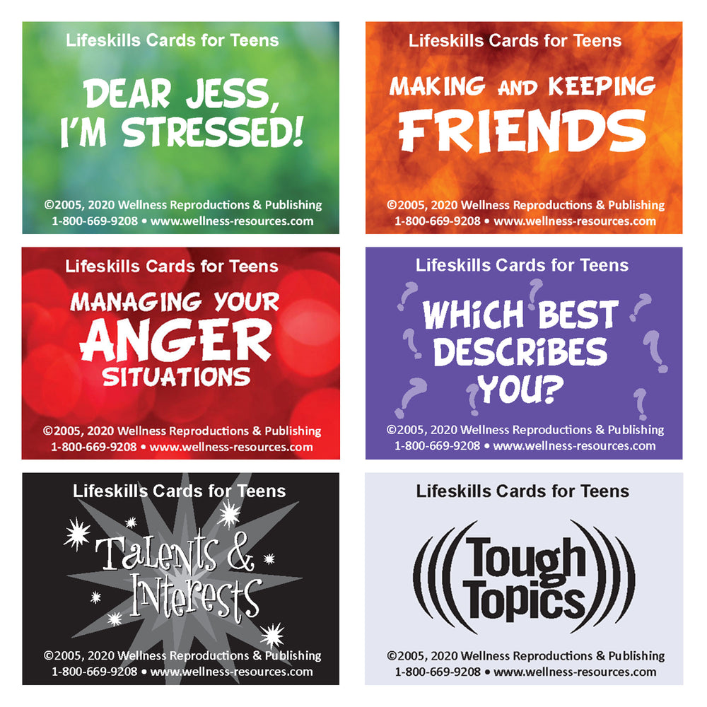 Lifeskills Cards for Teens: Complete Set of 6