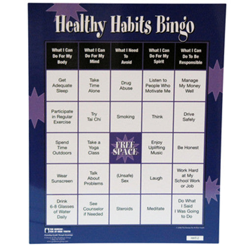 Healthy Habits Bingo Game