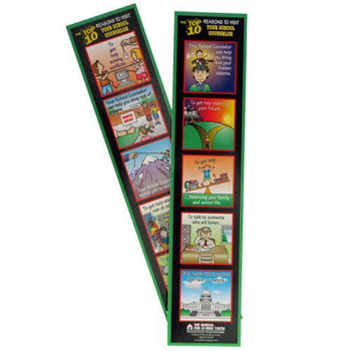 The Top 10 Reasons to Visit Your School Counselor Bookmark 100-pack