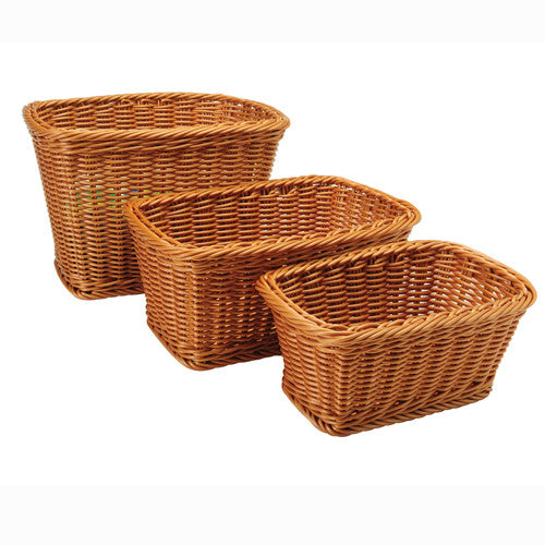 Rectangular Plastic Woven Baskets