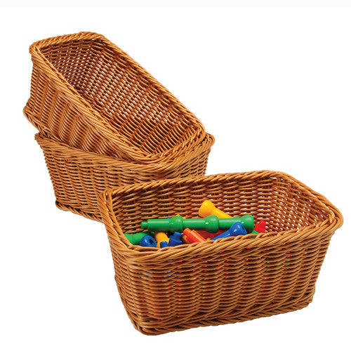 Matching Woven Plastic Rectangular Baskets