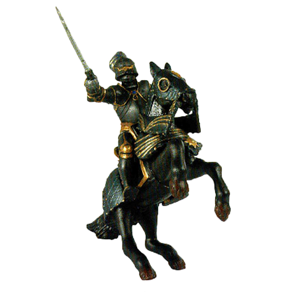 Black Armored Knight & Horse