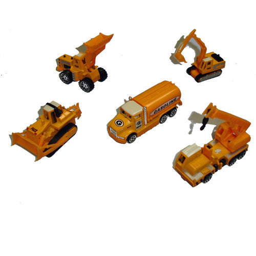5 Piece Construction Vehicle Set