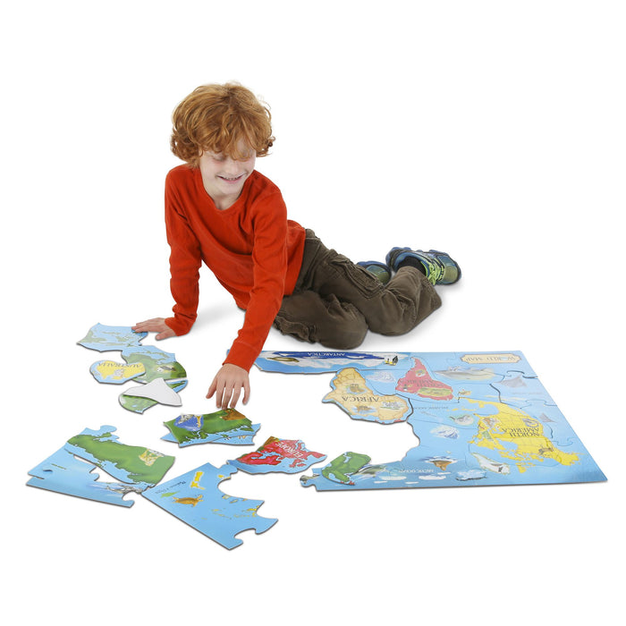 World Map Floor Puzzle (33 Pieces)