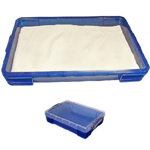 Small 4 Liter Portable Sand Tray & 5 lbs of White Shape-It Sand