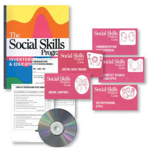 The Social Skills Program Book & Cards Set