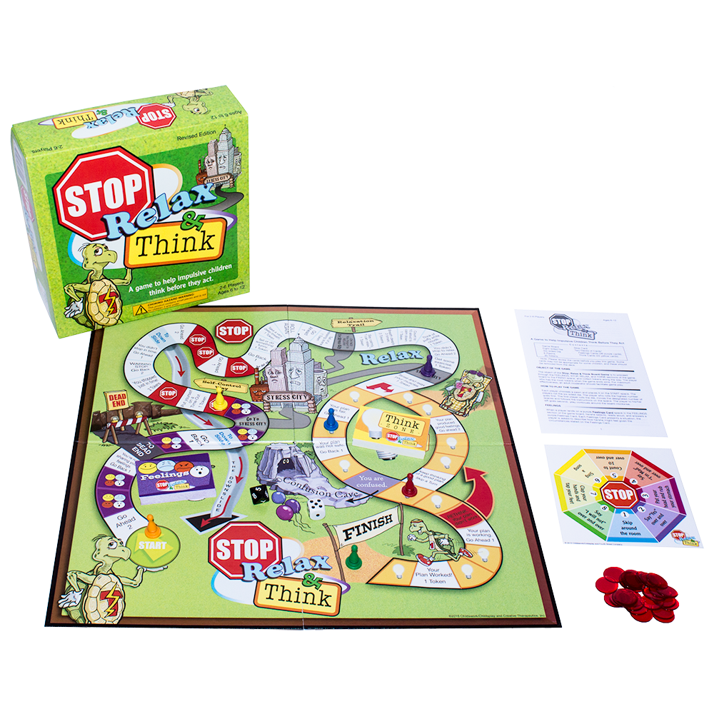 The Stop, Relax, and Think Board Game
