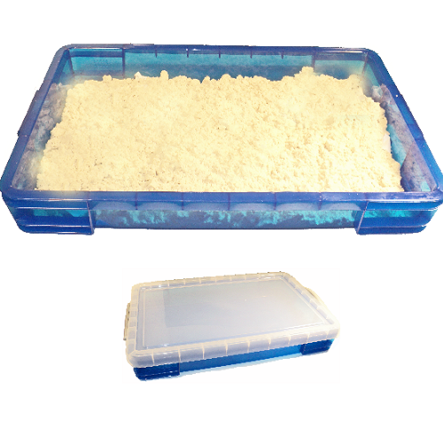 Extra Large 20 Liter Portable Sand Tray & 20 lbs White Shape-It (Moon) Sand