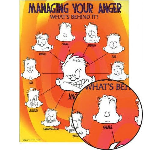 Laminated Managing Your Anger Poster