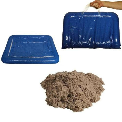 11 lbs of Kinetic Sand with Inflatable Sand Tray