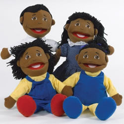 African American Puppet Family