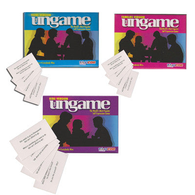 Three Sets of Ungame Cards (Kids, Teen, and Family)