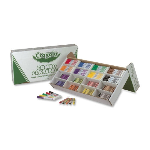 Crayola Deluxe Crayons and Marker Pack (256 pcs)