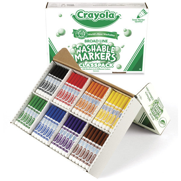 200 pc Crayola Washable Markers (8 colors)