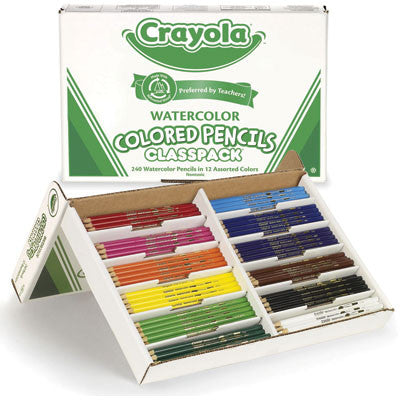 240 pc Crayola Watercolor Pencils Classpack (12 colors)
