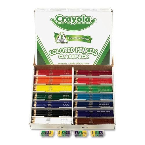 462 pc Crayola Colored Pencils Classpack (14 colors)
