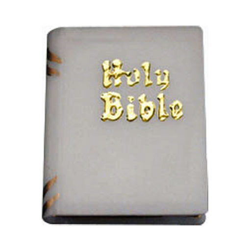 Bibles, mini, white (pair)