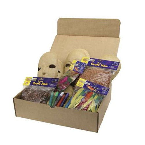 Paper Mache Masks Activities Box