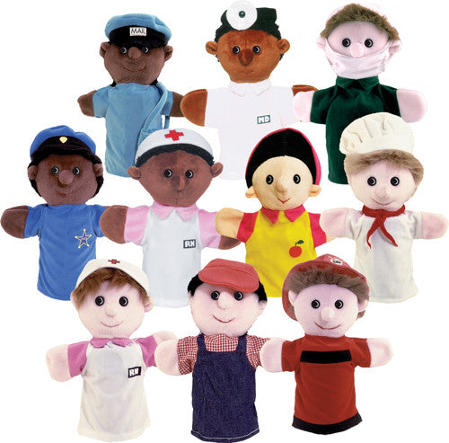Ten Community Helper Puppets